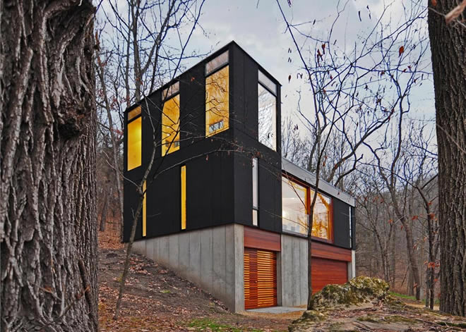 chata stacked cabin johnsen schmaling architects bamdesign