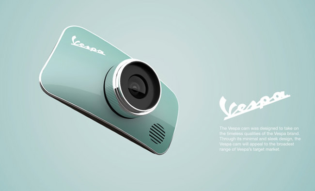 koncept fotoaparátu vespa